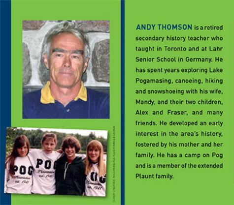 Andy Thomson, Author of Lake Pogamasing Ontario Canada